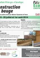 "Formation ""construction en bauge"" -  Yvelines, juillet & aout 2014"