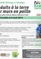 """Formation """"enduits à la terre sur murs en paille"""" - Yvelines, juillet et août 2014"""