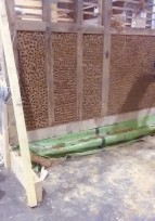 Des nouvelles de BAUCH : création du panneau en pan de bois torchis